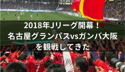 2018年Jリーグ開幕!名古屋グランパスvsガンバ大阪を観戦してきた