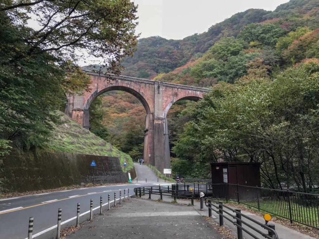 めがね橋を下から見た写真
